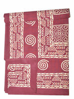 Indian Beau tiful Block Print King size Cotton Bedspread  Bed sheet13