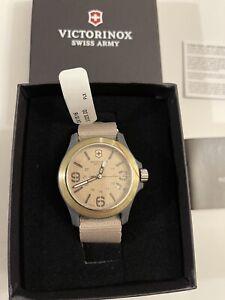 Victorinox Swiss Army Men's Brown Dial Textile Strap Band Watch 241516