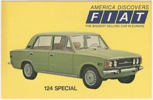 1968 Fiat 124 Special American Advertising Postcard Imported Automobile Car