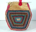 1890s NATIVE AMERICAN IROQUOIS / HAUDENOSAUNEE INDIAN BEAD DECORATED POUCH / BAG