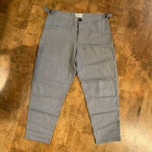 Oliver Spencer Judo Trousers - Grey Linen - Medium