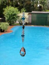 Handmade Crystal Bead Hanging Window Suncatcher Home Garden 33.5cm