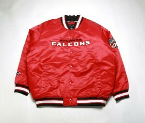 VINTAGE 2008 REEBOK Men's Satin Jacket 5264H-215 ATLANTA FALCONS