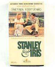 Stanley & Iris VHS Movie Promo Screener Copy Jane Fonda, Robert De Niro