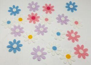 FELT FLOWER DAISY EMBELLISHMENTS DIE CUT SHAPES