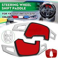 2x Extension Palette Volant Aluminium changement Argent pour VW Golf MK7 GTI