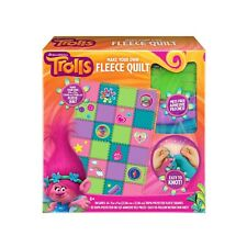 DreamWorks Trolls Make Your Own Fleece Quilt Easy To Follow Patch Square Blanket
