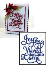 Impression Obsession JOY TO THE WORLD DIE DIE462-R Christmas