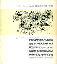 Christian Dotremont, Carl-Henning Pedersen. Cahier. Galerie de France Paris 196