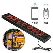 P10 LED Sign Led Scrolling Sign 40 x 8 inch Red Open Signs For Advertising