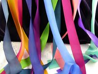"Gorgeous 1.5"" Pure Silk Bias Ribbon in Beautiful, Rich, Colors!!!"