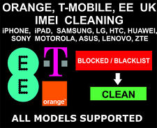 Orange, EE, T-mobile UK IMEI Cleaning, Unbarring: All Devices: iPhone, Samsung
