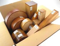 Wood turning blanks gift selection pack.  Box of mixed sizes and species. 45
