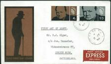 GREAT BRITAIN (UK)  - 1965  CHURCHILL First Day Cover to ZURICH 'Express' [6588]