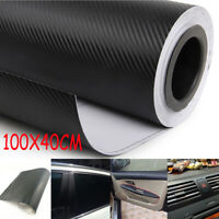 3D Car Interior Carbon Fiber Vinyl Wrap Sticker Dashboard Trim Panel Roll Decal