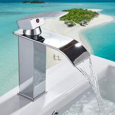 Rubinetto lavabo bagno miscelatore cromato monocomando lavello cascata ottone