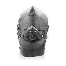Bondage Hood Gimp Mask with Ball Gag -Blindfold Fetish Roleplay Submission
