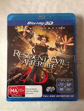 Resident Evil : Afterlife 3D BLU-RAY - 2D+3D+ DVD+Digital Copy (New & Sealed)