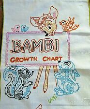 BAMBI Growth Chart Embroidered and Complete Thumper Deer Baby Room