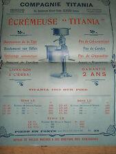 catalogue - depliant écrémeuse Titania - agricole  ( ref 19 )