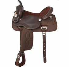 """Western Half leather and Synthetic Brown Saddle With Silver Dots 15"""""""