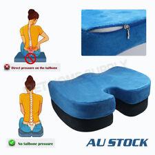 Memory Foam Coccyx Seat Cushion Back Hip Support Tailbone Sciatica Pain Relief