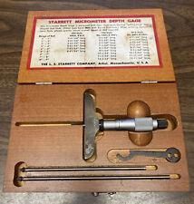 Starrett Company No445 Micrometer Depth Gage Kit