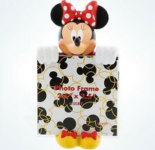 Disney Parks Minnie Mouse Peeker 2.5x2.5 Photo Picture Frame Magnet New
