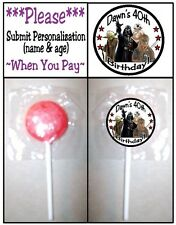 24 Star Wars Birthday Party Lollipop Stickers Favors Invitation Seals