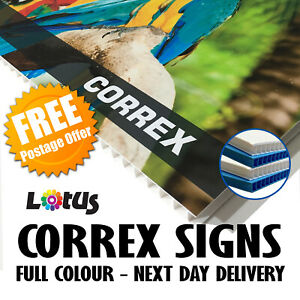 SITE BOARDS - Printed 6mm Correx Signs Full Colour - Free Design - Free Delivery