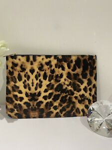 Orly Large Leopard Print Cosmetic /clutch Bag Limited Edition