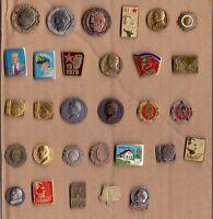 pin badge anstecknadel Josip Broz TITO, COMMUNISM - 30 DIFFERENT PINS YUGOSLAVIA