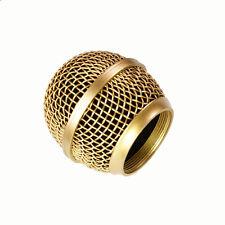 mesh mikrofon grille for shure sm58 565sd lc mikrofon, kupfer versilbert