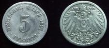 5 Pfennig - 1891 F - Kaiserreich - Deutsches Reich      (568)**