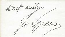 Jose Greco Signed 3x5 Index Card