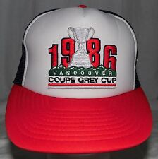 Vintage 1986 Vancouver Coupe Grey Cup CFL Football Hat Cap Deadstock Snapback