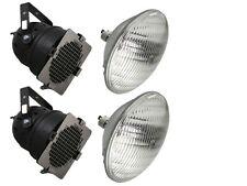 2 X Nero PAR 56 PAR 300 W può Teatro Fase Scuola Band Lanterna Illuminazione Lampada +