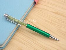 GREEN Colorful crystal pen silver Trim aluminum fashion Ballpoint Pen