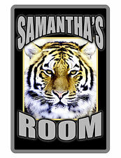 "Personalized ""ROOM""  Sign Printed with YOUR NAME / AULUMINUM SIGNS TIGER D#260"
