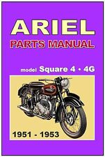 ARIEL Parts Manual 4G Square Four SQ4 1951 1952 and 1953 Spares Catalog List