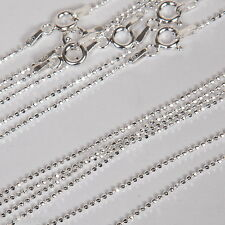 "10 pieces Sterling Silver 925 1.2mm Diamond Cut BALL CHAINS Lot 24"" 60cm"