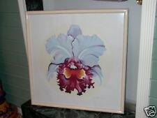 LOWELL NESBITT Listed Artist Signed IRIS Flower Art