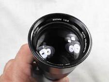 VINTAGE VIVITAR 200mm f3.5 m49 SCREW MOUNT LENS EXCELLENT+++