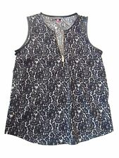 Vince Camuto New Top Black with white spots Zise: S