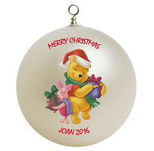 Personalized Winnie the Pooh Christmas Ornament Gift
