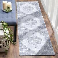 Floor Rug Runner Dusty Blue Soft Anti Slip Traditional Persian Carpet 80x300cm