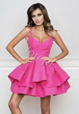 LOU Party hot Pink dress size L 10 12 UK NADIA LACED BACK vgc