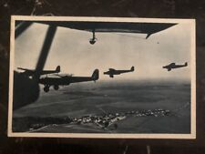 1937 Prague Czechoslovakia RPPC Postcard cover military Airplanes View