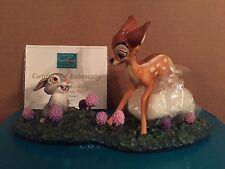 "WDCC Bambi & Thumper ""Just Eat the Blossoms. That's the Good Stuff!"" New in Box"