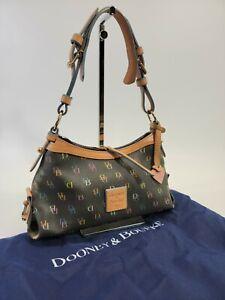 LRN Dooney & Bourke Leather Trim Mini East West Slouch Purse Shoulder Bag EUC!